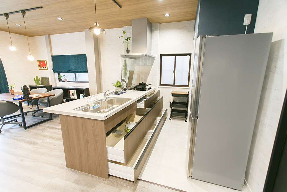 J.A.M建築企画のショールームキッチン画像